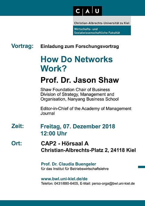 Forschungsvortrag von Prof  Dr. Jason Shaw